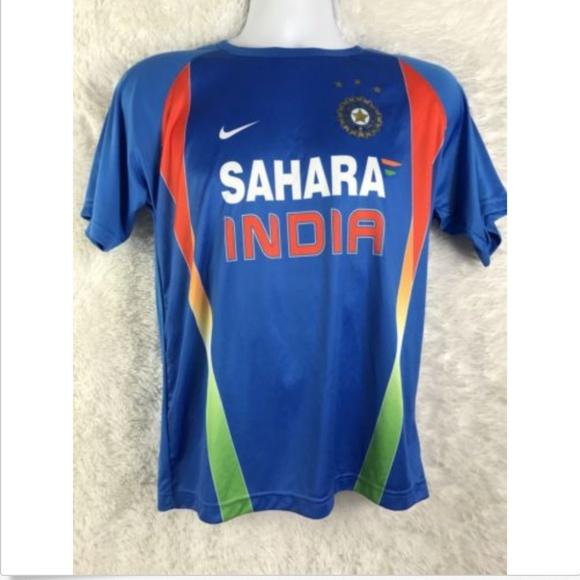 80c54b6c nike Shirts | India Sahara Cricket Authentic Mens Jersey | Poshmark